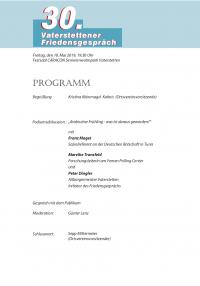 Festschrift zum 30. Vaterstettener Friedensgespräch, Seite 2
