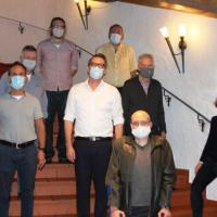 Der Vorstand der SPD Vaterstetten mit Mund-Nasenschutz